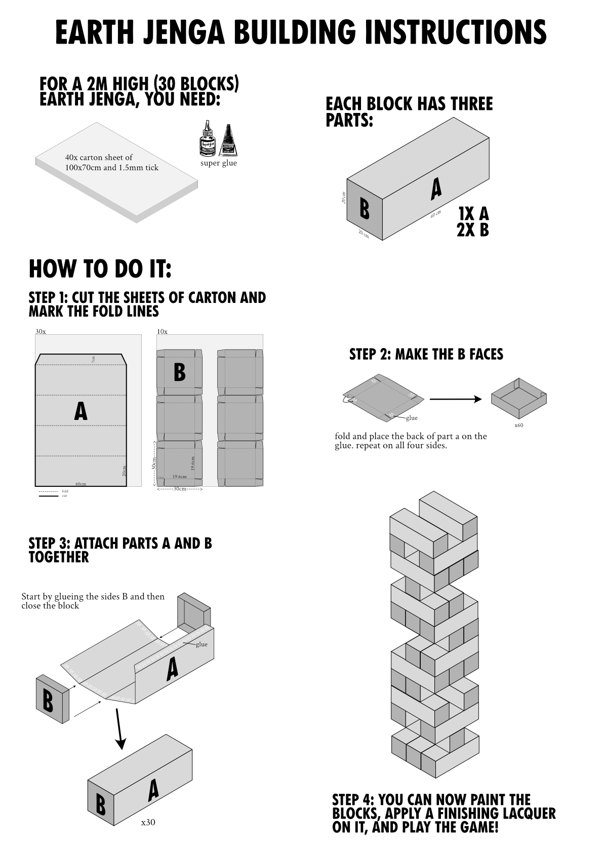 Earth Jenga Building Instructions
