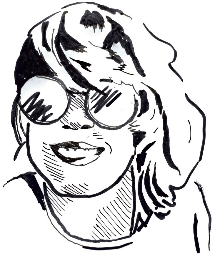 drawing of Claire Chéry