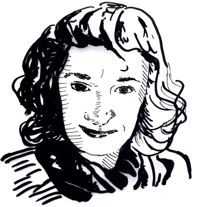 drawing of Kirstie Adamson
