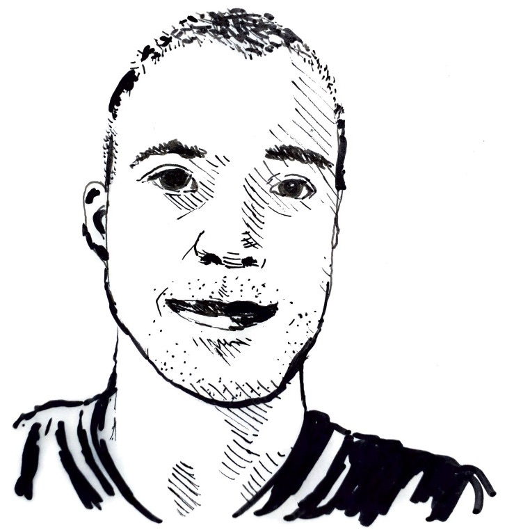 drawing of Martin Fahy