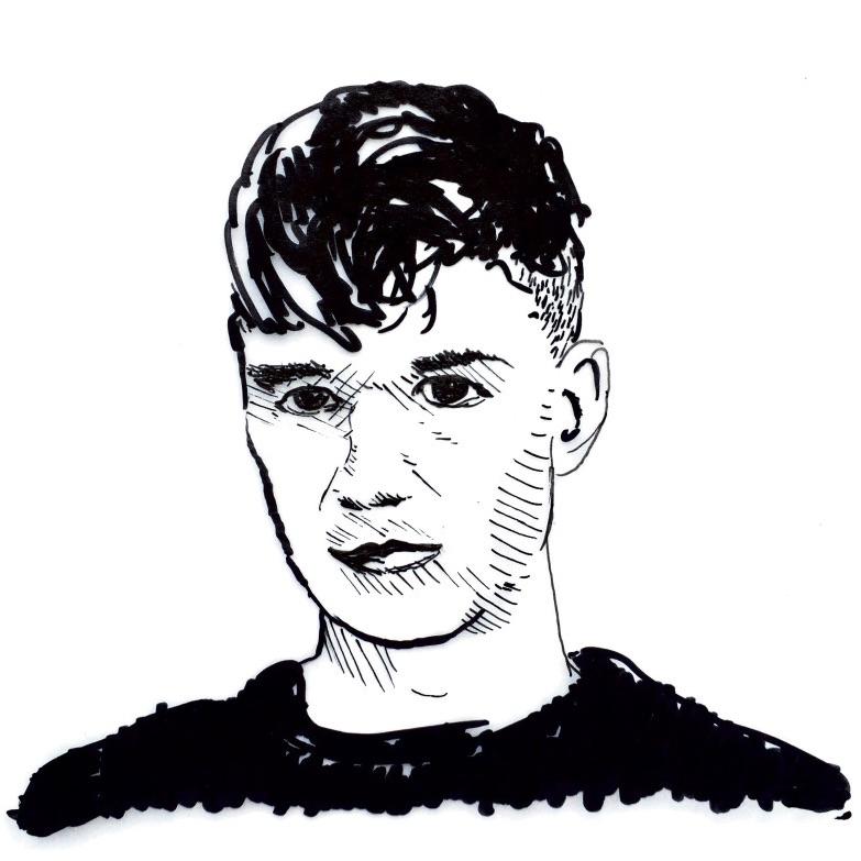 drawing of Pieter Vandromme